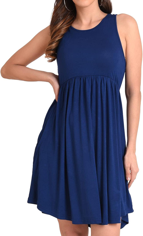 Miss Lavish London Summer Swing Dress – Women Casual Dress with Pockets – S-XXL