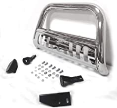 Motorhot Front Bumper Bull Bar Grille Stainless Steel fit for 07-19 Toyota Tundra/Sequoia