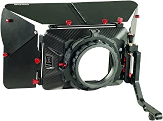 CAMTREE Carbon Fiber Professional Matte Box with Swing Away for 15mm Rod Support for Video DSLR Moving Making Camera Lenses up to 105mm (C-MB-20-CF)