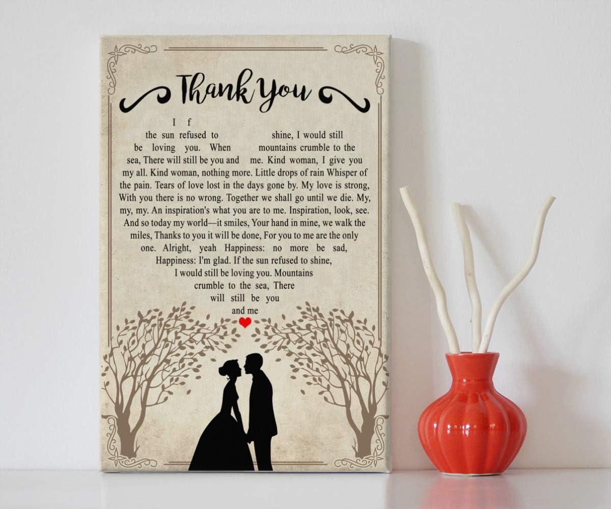 Mattata Decor 新作 大人気 Gift - ストアー Thank You Couple Lyric Wedding Song Heart