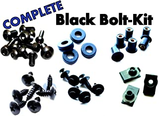Complete Black Fairing Bolt Kit Screws Fasteners for Kawasaki ZX-10R 2004-2005