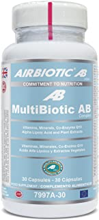 Airbiotic. AB  MultiBiotic AB Complex. Complemento Alimenticio Multinutrientes. Multivitaminas. 30 Cápsulas