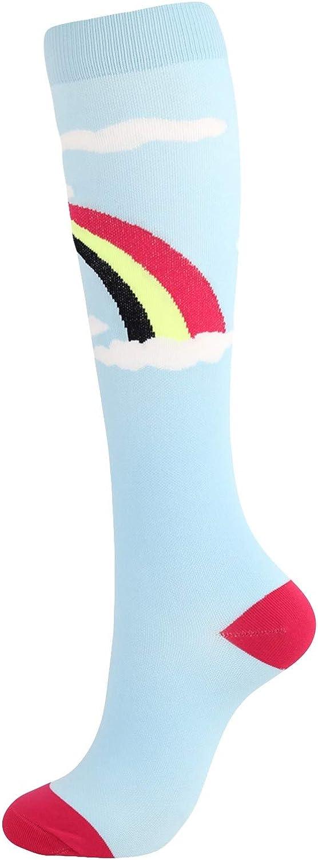 ZCAITIANYA Men's Women's Same Long Socks Breathable Print Outdoor Casual Cotton Walking Hiking Protection Calf