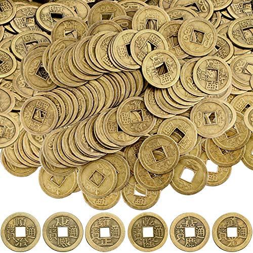 Monete Cinesi di Feng Shui Buona Fortuna Moneta della Fortuna Monete I-Ching per Salute e Ricchezza (100, 0.8 Pollice)