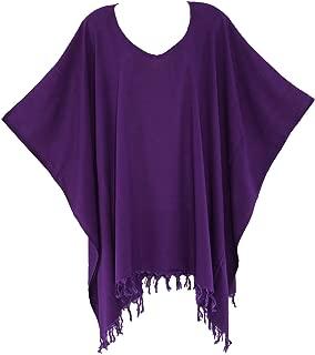 Beautybatik Boho Solid Tunic Blouse Kaftan Caftan Top Plus Size 18 to 26