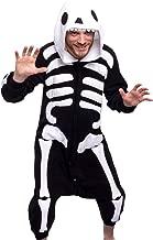 Silver Lilly Unisex Adult Pajamas - Plush One Piece Cosplay Skeleton Animal Costume