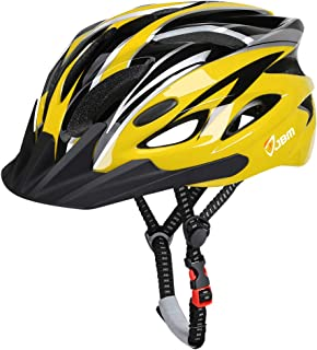 JBM Adult Cycling Bike Helmet Specialized for Men Women Safety Protection CPSC Certified (18 Colors) Black/Red/Blue/Pink/Silver Adjustable Lightweight Helmet (Yellow & Black (New), Adult)