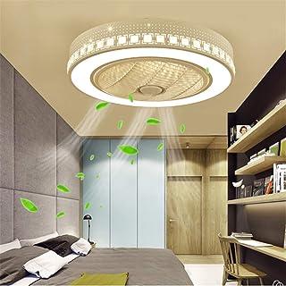 Nuevo Creative Ventilador de techo LED Lámpara moderna de techo con control remoto Ventilador de techo silencioso Lámpara de dormitorio Sala de estar Oficina Salón de niños Iluminación Ventilador,A
