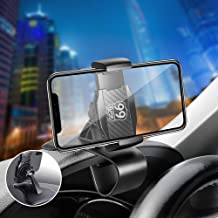 Tsumbay Car Phone Mount Dashboard Cellphone GPS Holder Mobile Clip Stand 360-Degree Rotatable Cradle Compatible with 4.0-6.5
