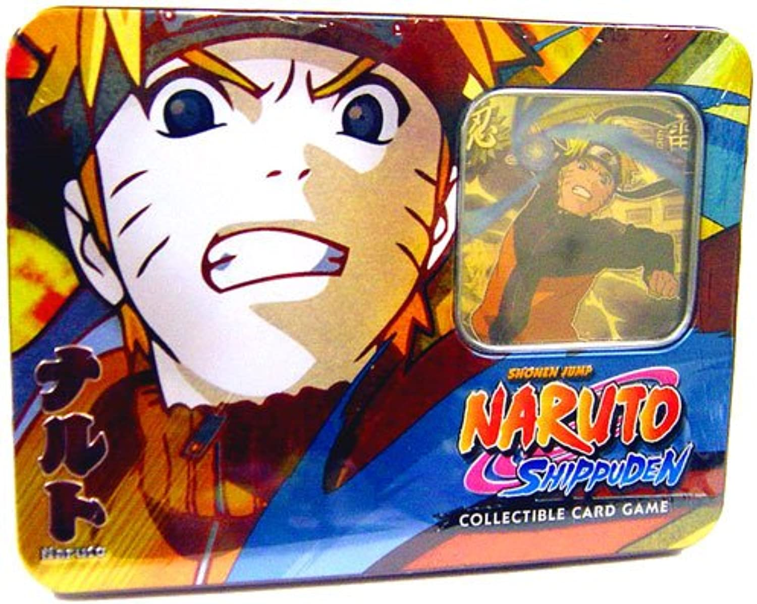 2009 Naruto CCG  Guardian of the Village Tin Collector Tin Set  Naruto Uzumaki - Great Gift
