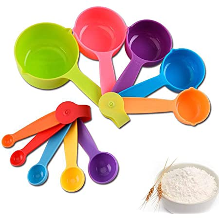 10 Pack Measuring Cups Spoons Kitchen for Baking Cooking Coffee Plastic zhi
