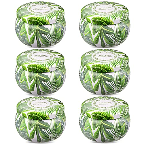 Citronella Candles Outdoor Indoor 6 Pack 26oz Scented Candles Long Lasting Burning for Summer Home Gardon Patio Balcony