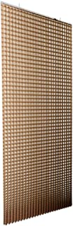 Bonito Deco - Stella Round Hanging Room Divider - W 4 Feet/H 8.2 Feet - Polyester - Round Pattern - Modern Wall Divider Cordless - Almond