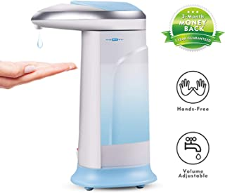Nozama Touchless Automatic Soap Dispenser, 10.58-Ounce Infrared Motion Sensor Liquid Dispenser, Auto Hand Soap Dispenser, Suitable for Bathroom Kitchen Hotel Restaurant