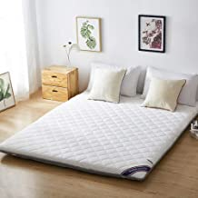 Tatami Mattress, Foldable Non-Slip Thicken Single and Double Quilted Mattress Floor Mat for Bedroom, Office and Student Do...