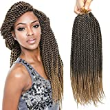 Befunny 8Packs Crochet Braids Senegalese Twist Crochet Hair Ombre Black To Honey Blonde Small Crochet Twist Hair Itch Free Mambo Twists Braiding 24srand/Pack(24 inch,T1B/27#)