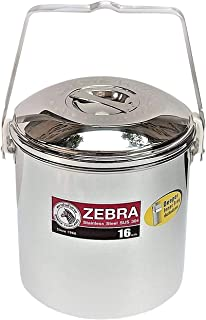 ZEBRA THAILAND Improved 16cm Loop Handle Pot, Silver