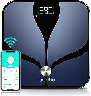 مقیاس هوشمند - مقیاس وزن بدن بلوتوث Wi-Fi سوئیچ خودکار با چربی بدن ، 14 مانیتور ترکیب بدن با برنامه Android Android ، چندین کاربر ، فضای ذخیره سازی نامحدود ابر ، مقیاس وزن دیجیتال و چربی بدن