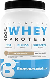 Bodybuilding Signature 100% Whey Protein Powder | 25g of Protein per Serving (Oatmeal Cookie, 2 Lbs)