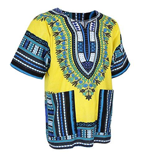 Herren Dashiki Hemd Afrikanischen Bluse Tops Oberteile Herrenmode T-Shirts