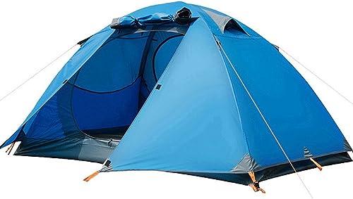 ZYN Champ 3-4 Personnes Double Couche Tente Tente de Camping en Plein air Camping tempête Tente de multijoueur de prévention