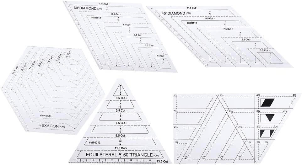 Patch-Work Ruler Ranking TOP8 5Pcs Patch‑Work Large special price !! T Templates Quilting