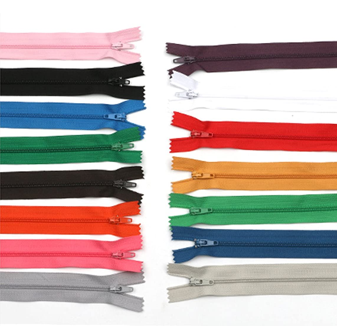 50Pcs 7 Inches Nylon Invisible Zippers for Tailor Sewer Sewing Craft Supplies, Color Random