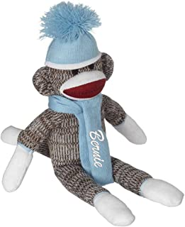Personalized Sock Monkey Embroidered Name Christmas Gift Ideas for Boys Christmas Gifts