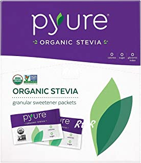 Pyure オーガニック ステビアスイートナー 1g×120袋(120g) 有機甘味料/シュガーフリー/Organic Stevia Sweetener