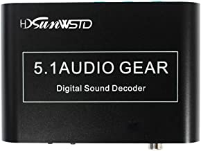 Digital 5.1 Audio Gear Digital Sound Decoder Converter Dolby Dts/ac-3 Optical To 5.1-Channel RCA Analog Sound Spdif Decoder Stereo with USB Port