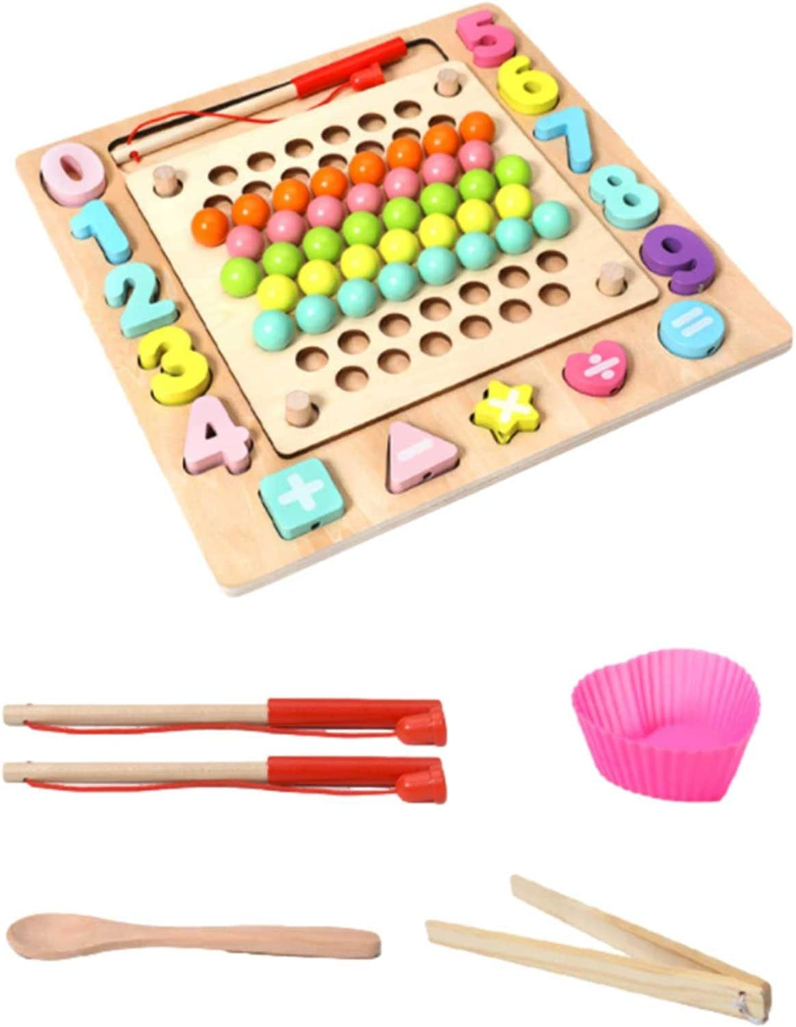 Wooden Super special price Peg Board Beads Game P Clip Rainbow Go Games Max 83% OFF