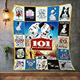 101 Dalmatians Quilt, Blanket - Unique 3D Design, Suitable for All Seasons with Mellow Cotton Material Comfortable and Luxurious.