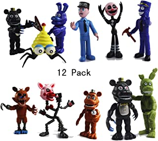 HeyFun 12 Pack Five Nights at Freddy's Action Figures Toys Cake Toppers Play Set Gifts (Figures Set)