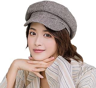 PanPacSight Women Houndstooth Newsboy Cap Ladies Beret Winter Wool Octagonal Hat Adjustable