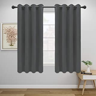 Easy-Going Blackout Curtains for Bedroom, Solid Thermal Insulated Grommet and Noise Reduction Window Drapes, Room Darkenin...