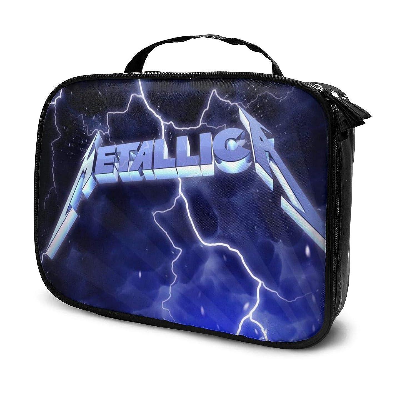 考慮信条に対応化粧ポーチ Metallica 女性化粧品バッグ ビューティー メイク道具 フェイスケアツール 化粧ポーチメイクボックス ホーム、旅行、ショッピング、ショッピング