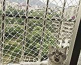BASHI Malla de protección para mascotas de alta visibilidad, red de seguridad duradera para gatos, red protectora para ventanas de balcón, valla de malla anticaída para perros y gatos