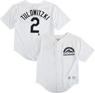 Outerstuff Troy Tulowitzki MLB Colorado Rockies Button Down Home Jersey Youth (XS-2XL)