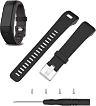 ECSEM Replacement Soft Silicone Bands and Straps Compatible with Garmin vivosmart HR+ Smartwatch ONLY (not for vivosmart hr) with Tool and Screw
