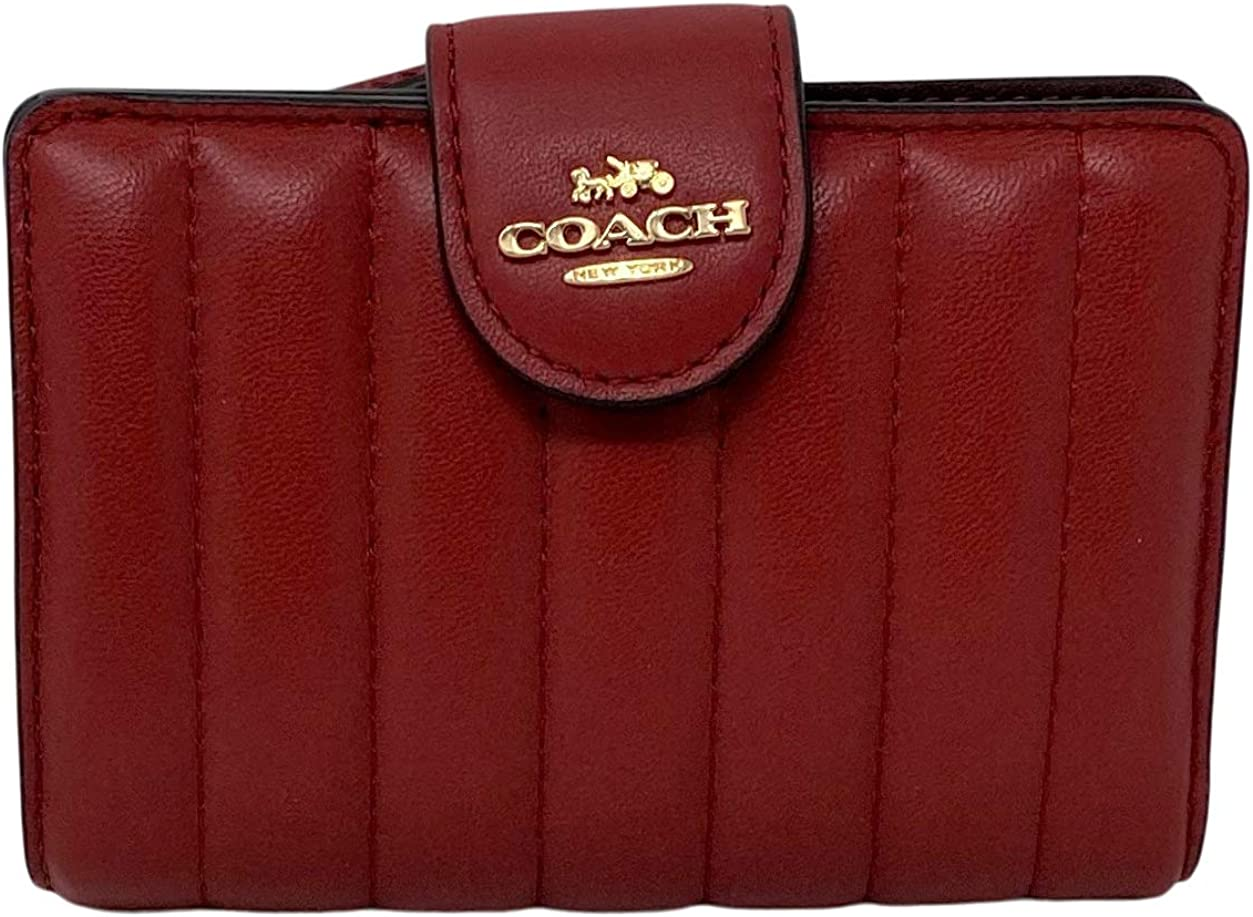 Coach Cheap super special price Medium Corner Zip Quilting with Wallet Popular shop is the lowest price challenge