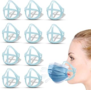 Mask Bracket Face Mask Inner Support Frame 3D Silicone Bracket for Comfortable Breathing Reusable Washable(Blue)
