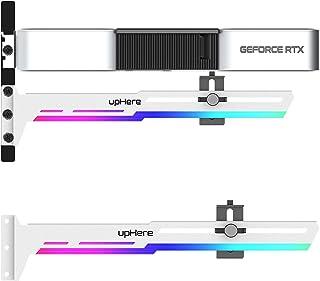 Novonest GPUブラケット グラフィックボード 汎用ビデオカードホルダー5V 3PIN ARGB GPUブレースサポート グラフィックカードを固定する GPU支える AURA Sync対応 白「G276WTARGB」
