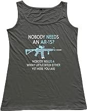 Women's Nobody Needs An AR-15 Tank Top Shirt.