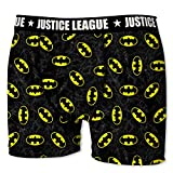 Justice League DC Comics Herren Boxershorts Gerechtigkeitsliga - 7 TOP Batman/Superman Design's in S/M/L/XL/XXL (M/5/48, Batman Sign)