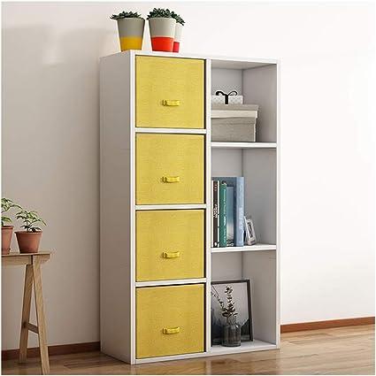 A-ZHP Book Tela estantería de cajones estantería, de Alta ...