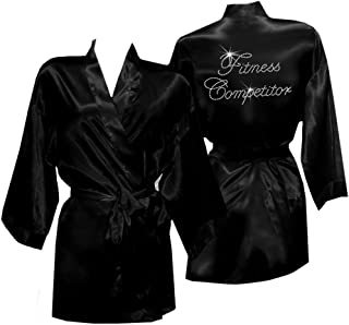 Fitness Competitor Satin Robe Cover Up