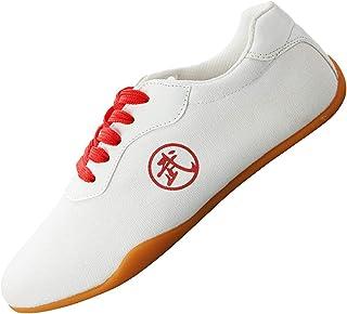 GE® Zapatillas de Deporte de Tai Chi Zapatillas Blancas de Tai Chi Zapatos de Rendimiento Zapatos de Artes Marciales Zapatillas de Lona Fondo de tendón Adecuado para Hombres y Mujeres