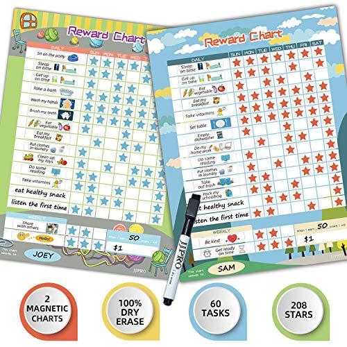 "Bahavior Chart for Kid at Home, Chore Chart for Kid, Reward Chart for Kids Behavior. 11"" x 14.5"