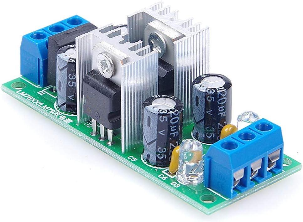 KNACRO LM7805 + LM7905 Dual Voltage Regulator Three-Terminal Regulator Power Supply Module ±5V Dual Voltage Regulator with Rectifier Bridge