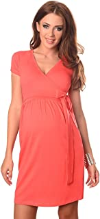 Purpless Maternity Cocktail V Neck Pregnancy Dress with Belt 5416